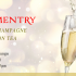 COMPLIMENTRY A GLASS OF CHAMPAGNE AFTERNOON TEA
